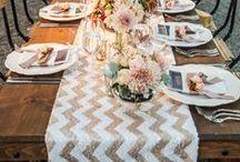 ∆  Chevron Wedding ∆ / Think geometrics shapes and wonderfully bold symmetry! Gorgeous zig zag waves for creative flair -  make your wedding one to remember.