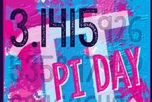 3.1415...Pi Day 3/14/15 / Special once in a lifetime line of date and number... Celebrate Pi Day.