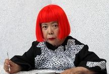 Kusama, Yayoi / Japanese artist and writer. Throughout her career she has worked in a wide variety of media, including painting, collage, sculpture, performance art, and environmental installations, most of which exhibit her thematic interest in psychedelic colors, repetition and pattern. Kusama is now acknowledged as one of the most important living artists to come out of Japan, and an important voice of the avant-garde. born March 22, 1929
