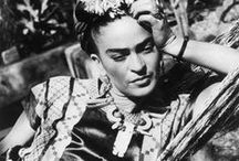 """Khalo, Frida / Born Magdalena Carmen Frieda Kahlo y Calderón, actual name Frida Khalo de Rivera. A Mexican painter who is best known for her self-portraits. Kahlo created at least 140 paintings, along with dozens of drawings and studies. Of her paintings, 55 are self-portraits which often incorporate symbolic portrayals of physical and psychological wounds. She insisted, """"I never painted dreams. I painted my own reality."""" July 6, 1907 – July 13, 1954"""