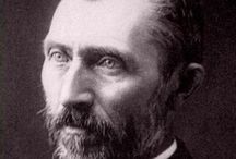 van Gogh, Vincent Willem / A major Post-Impressionist Dutch painter. His output includes portraits, self portraits, landscapes and still life of cypresses, wheat fields and sunflowers. Van Gogh drew as a child but did not paint until his late twenties; he completed many of his best-known works during the last two years of his life. In just over a decade he produced more than 2,100 artworks, including 860 oil paintings and more than 1,300 watercolors, drawings, sketches and prints. 30 March 1853 – 29 July 1890