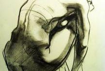 Charcoal / Charcoal drawings