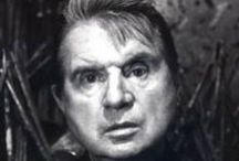 Bacon, Francis / Francis Bacon (28 October 1909 – 28 April 1992) was an Irish-born British figurative painter known for his bold, emotionally charged and raw imagery.