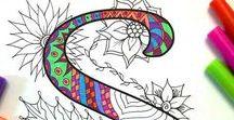 mandalas - coloriages