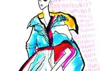 1. Fashion  Illustration / Contemporary fashion illustration. Fashion sketches and fashion illustration. Watercolors, pastels and markers drawings.