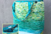 Fade & Speckle Bag / The gorgeous Fade & Speckle Bag! Pattern (with sewing instructions) is released on Sep. 2nd, 2017 | Yarn kits are offered in a limited amount same day |