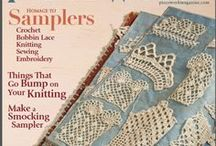Crochet Samplers / In earlier centuries, samplers were a way of passing patterns on and of practicing stitches and techniques.  Today samplers are a fun way to try out new patterns and color combos as well as becoming works of art in their own right.  Sampler possibilities include books, wall hangings, throws, mats, shadow boxes (for 3-D crochet pieces), other art pieces.  This could be Irish crochet motifs, filet crochet, hyperbolic crochet in a shadow box, granny squares, amigurumi in a shadow box, etc.