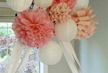 Shower Ideas / Colors- Pink, White, Tan Beach Theme- Starfish, Sand dollars, etc / by Amanda Meece