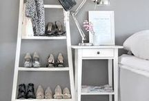 LADDER STYLING / Ideal for small spaces, simple ladders are not only functional items for the home, they provide an interesting design element for any interior space.