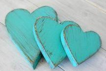 I love HEARTS / cuori, stoffa, legno, tessuto, ceramica, metallo