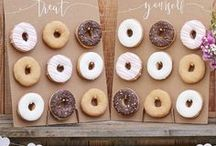 T E M P T I N G _ T R E A T S / Inspiring your dessert table! From donut walls and cute cupcakes to heart shaped-shortbread and mini macaroons, these tempting treats will have you salivating!