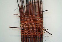 laine, fil, cailloux,  bois