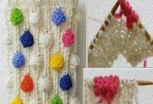 techniques, points de tricot, crochet