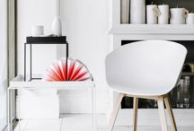 POP OF COLOUR / Scandinavian interiors with their shades of white, greys and muted tones create a perfect backdrop for splashes of vibrant colours.