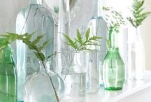 GLASS STYLING / How to style glass vases, votives and other decorative objects in the home.