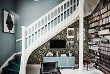 FEATURE WALL / Feature and/or statement walls created with the help of wall paper, paint, ceramics, frames, hanging objects, etc...
