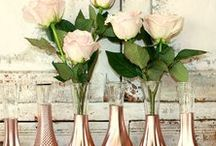 R O S E _ G O L D / Rose gold is a growing trend, here's how to incorporate the colour into your big day...