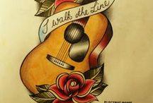 Guitar Tattoo Art / Amazing guitar tattoos http://www.guitarandmusicinstitute.com
