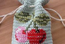 Crochet and cross-stitch