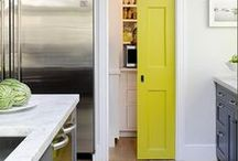 Pocket doors are trending. / Pocket doors are practical safe-saving devices for beautiful modern applications.