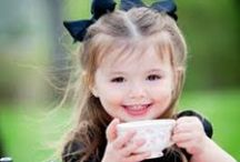 Tea parties make you happy / Adorable pictures of beautiful children at tea parties!