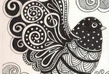 Zentangle patterns / I've enjoyed collecting zen patterns, not sure I'll ever be able to do them though!