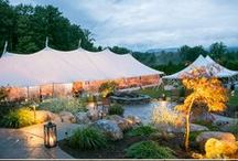 Tented Weddings / What's not to love about a tented wedding?  Lush greens, white tents and lots of fun!