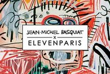 SS16 - ELEVENPARIS X BASQUIAT - CAPSULE COLLECTION / ELEVENPARIS collaborates with one of the most inspiring painter artist of the contemporary art, Jean-Michel Basquiat.  Avant-garde and considered as one of the top five ranked artist in the world market of art, Jean-Michel Basquiat has marked his time but also this new generation. Inspired by his world, many brands still pay tribute to the artist including Valentino, Agnes b., Supreme...