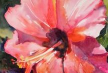 Hibiscus / Pretty hibiscus blooms to paint