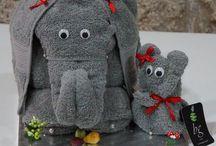 Best Art Towels - Toalhas com arte / Origami bath towels.
