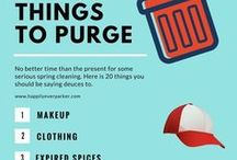 Decluttering / Pins and images that share helpful advice in regards to decluttering.