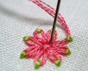Embroidery embellishments / Embroidery techniques to decorate knits, denim, and other fabrics.