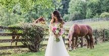 Rustic Wedding Ideas / Is your perfect wedding held in a barn or on a farm? Do you love cowboy boots and burlap? Then let's look at some ideas to make your wedding dream come true.