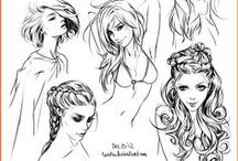 Drawing - hair