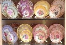 Time for tea / Teacups- vintage and just pretty / by Wendy Ruback