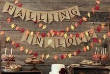 Fall Weddings / If crisp autumn air and vibrantly changing colors is your idea of the perfect time to get married, then let's explore some fall wedding ideas!