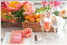 Champagne & Peonies Party / Host a Summer Champagne & Peonies Party for an upscale brunch, lunch, or just because!