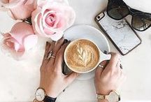 Tea & Coffee Styling / Breakfast in bed, lazy Sunday mornings with a cup of coffee and the newspapers...These are the best tea and coffee styling shots pinterest has to offer!