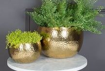 Gold Furniture and Home Accessories / You love gold, we love gold... let's face it... we all love it! Warm metals are here to stay in interiors and we couldn't be happier about it. Gold coloured home accessories and furniture add just the right accent to a room and blend perfectly with the current trend for moody walls.