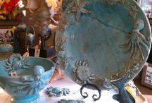 Seaside & Mermaid Decor / I treasure hunt for things of, by, in or near the sea.  As I am a Mermaid, I love to incorporate Mermaid Decor whenever I am creating a seaside theme.