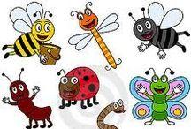 PO1/2 kriebelbeestjes/insekten / by Elma