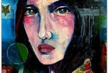 Beautiful Faces - Art By Asma Kazi (Kaleidodrama) / Faces. Lopsided. Imperfect. Perfect. Art.  The series comprises of faces I know, and abstract portraits  from my imagination. It is series dedicated to the lopsided. Of seeking the perfect in the imperfect. Of finding resonance in Staccato and the glitchy.