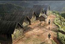 Maison typique de Madagascar / On rencontre différent type de maison dans les différentes régions de Madagascar