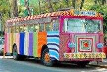 Crafty Colourings / Yarn bombing