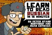 Russian - Learn to Read - also Greek / I need this - there are so many great patterns in Russian and other languages