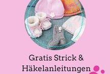Kostenlose Strick- und Häkelanleitungen für Babysachen / Sammlung kostenloser Strickanleitungen für Babymützchen, Babyschühchen, Babykleidung
