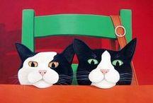 Art - Amazing Cat Art / Cat art is like cat videos - I can't help myself - I love them!!