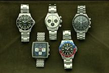 Men's Sport Watches / A board of our favorite sport watches from Rolex, Omega, Heuer and more.