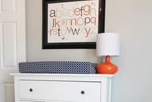 Orange and Navy Nursery