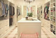 Closet / Beauty Room / Walk in closet / Beauty Room / Dressing Room / Laundry Room  All In One / by Kristen Marie Crane